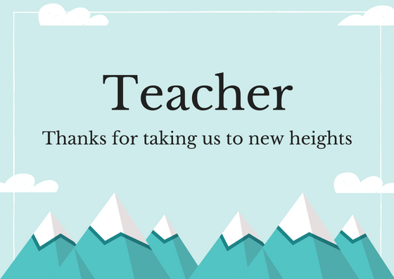 How to Write a Thank You Note to a Teacher