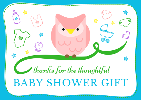 Baby gift thank you notes coworkers : Baby shower thank you cards free printable