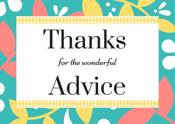 Advice Thank You Note