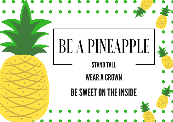 Be a Pineapple Printable Card