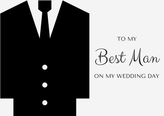 Best Man Thank You Card On Wedding Day