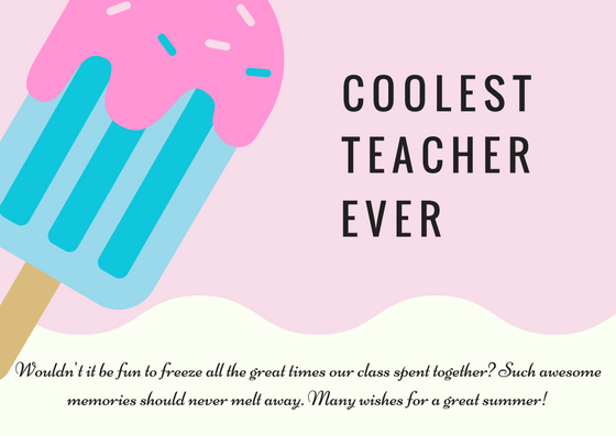 Teacher Thank You Card Wording For A Great Year