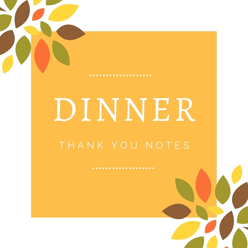 Dinner thank you notes | free thank you card wording.