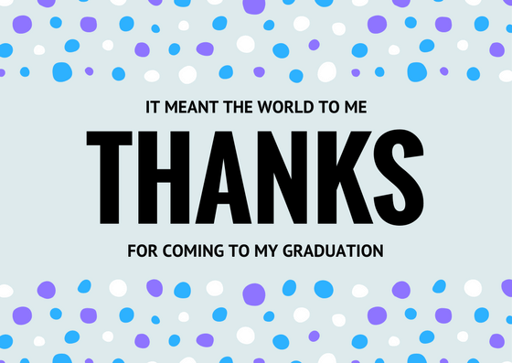 graduation thank you card message - Graduation Thank You Cards