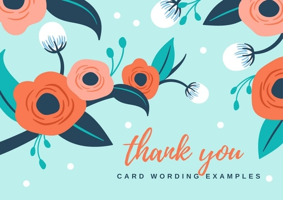 Thank you note wording for all occasions thank you card wording examples reheart Image collections