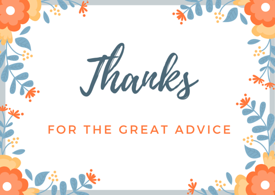 FREE Printable Thank You Card for Advice
