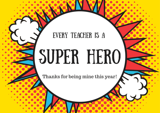 Teacher Thank You Note for Teacher Appreciation Day