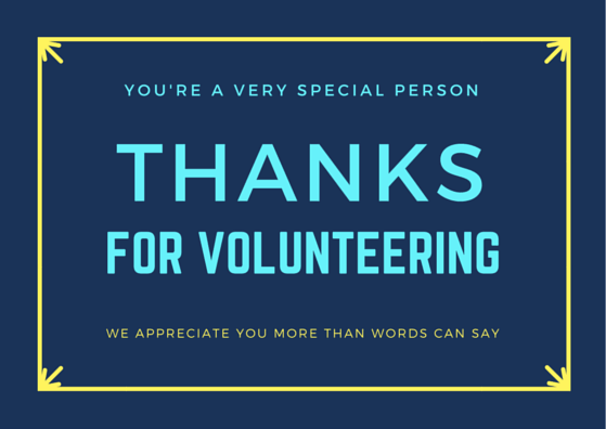 Printable Volunteer Thank You Card