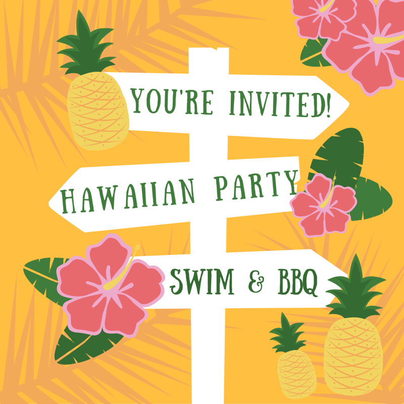 FREE Printable Hawaiian Party Invite