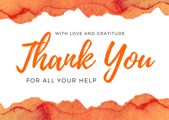 Bereavement Thank You Card: Thanks for Your Help