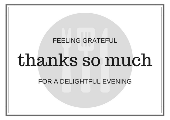 Dinner Thank You Note Wording