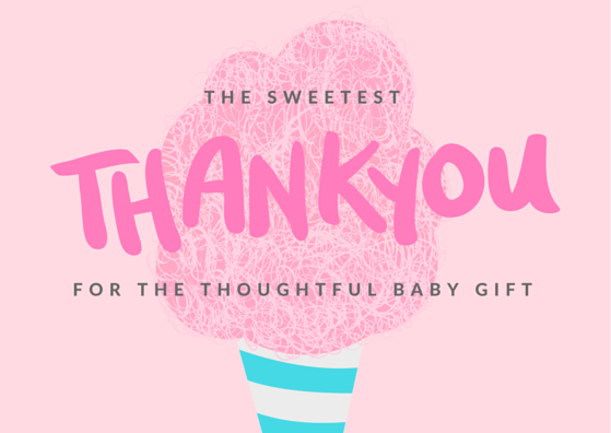 FREE Printable Baby Shower Thank You Card
