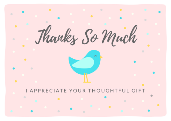 Thank You Note Wording – Thank You Note for Gift