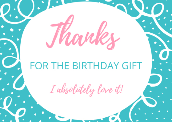 Birthday Thank You Card Printable