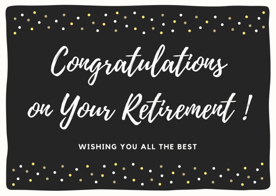 Employee Farewell Card: Congratulations on Your Retirement