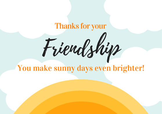 Thank You Card Messages For Friendship