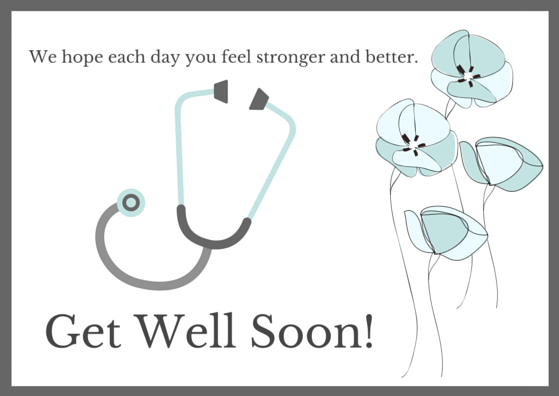 Get Well Soon Thank You Card Printables Free Resource