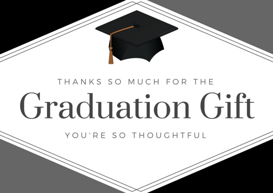 free printable graduation thank you card morethankyounotescom