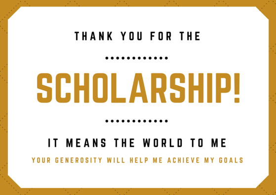 Scholarship Thank You Note Wording