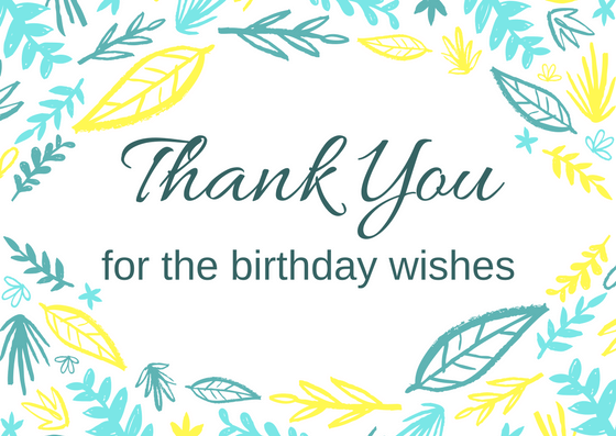 How to say thank you for birthday wishes on facebook m4hsunfo