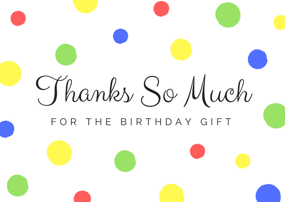 FREE Birthday Thank You Card Printables – Thank You for the Birthday Card