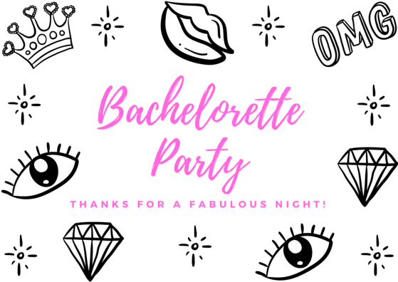 Bachelorette Party Thank You Note Wording Examples