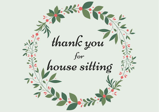 House Sitting Thank You Card
