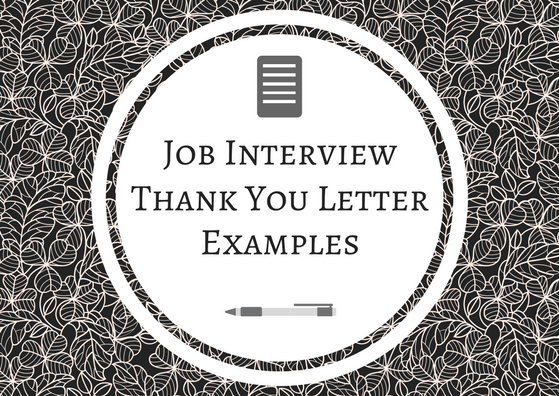 Job Interview Thank You Letter Examples