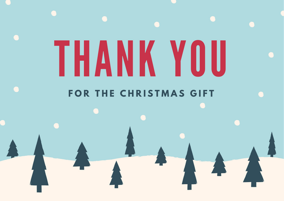 Christmas Thank You Card Wording Examples for Holiday Gifts – Christmas Thank You Cards