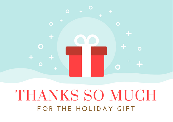 Christmas Gift Thank You Notes Free Wording Resource