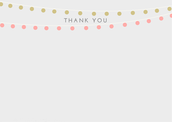 Bridal Shower Thank You Card Printable