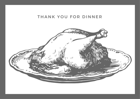 Printable Dinner Thank You Card