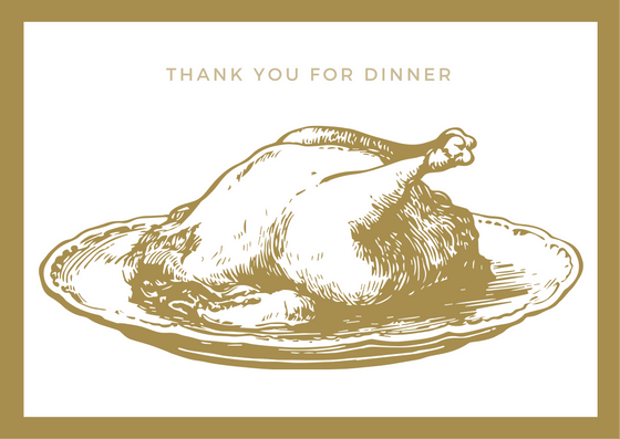 Printable Thank You Card for Dinner