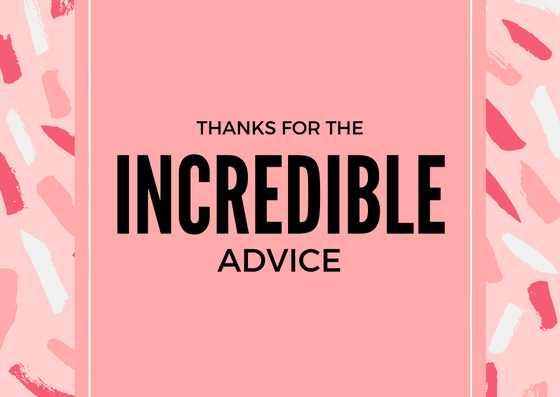 Advice Thank You Card Wording Examples
