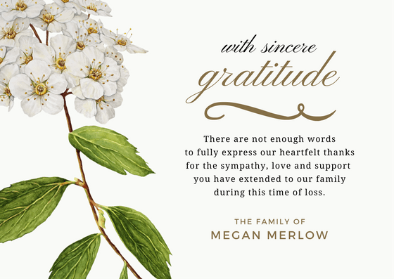 Bereavement Thank You Notes – Sympathy Thank You Notes