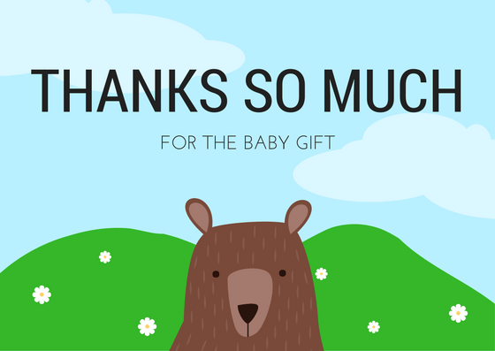 Thank You for the Baby Gift