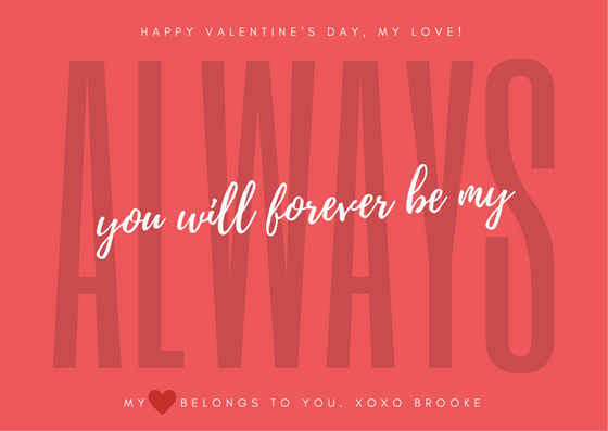 Valentine's Day Card Wording