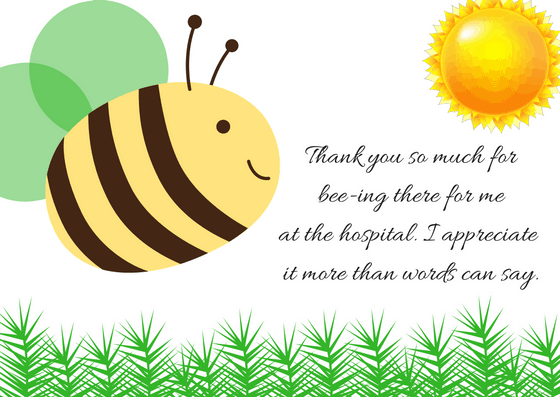 Thank You Note for Hospital Visit