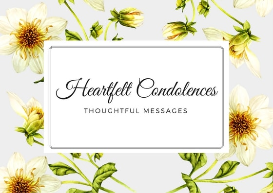 Condolence Messages | What to write in a sympathy card