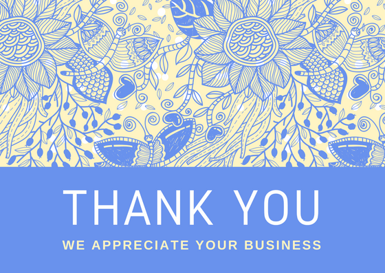 We Appreciate Your Business Business Thank ...