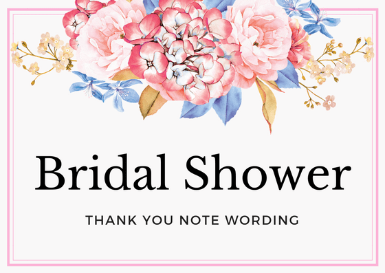 Bridal Shower Thank You Notes for Wedding Gifts