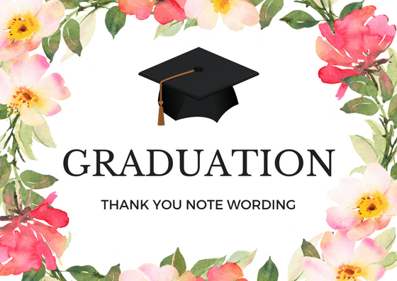 graduation thank you note wording and messages - Graduation Thank You Cards