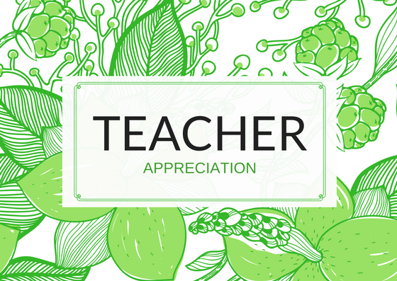 Teacher Appreciation Thank You Card Wording
