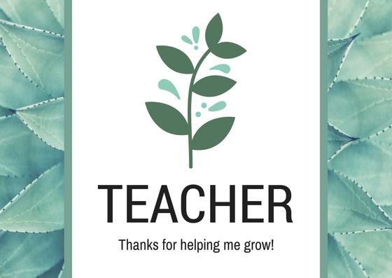 teacher thank you notes