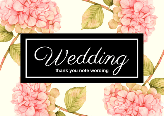 Wedding Gift Thank You Note