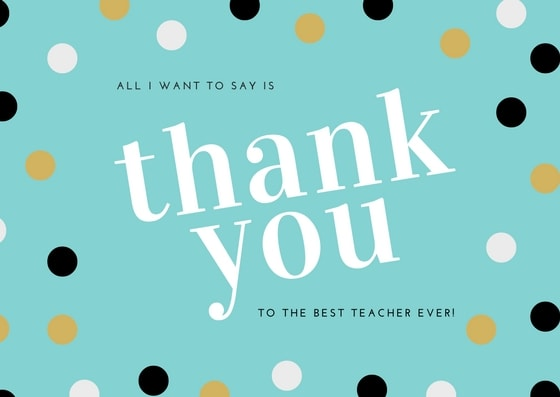Graduation Thank You Card for Teacher
